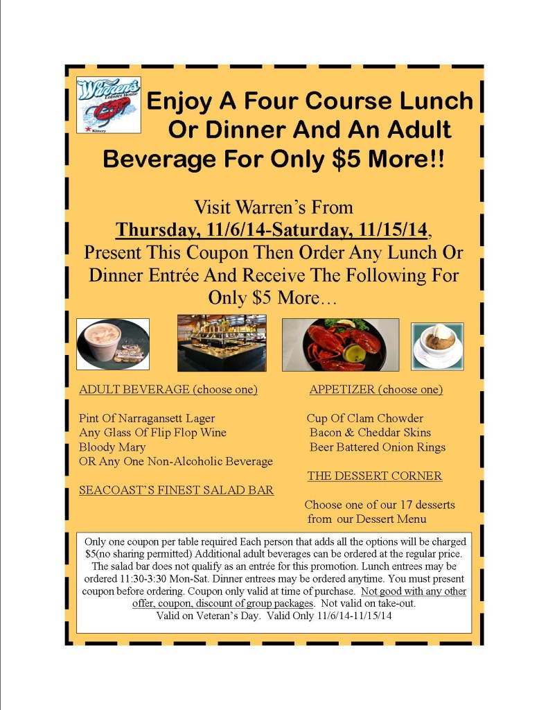 Coupons maine restaurants