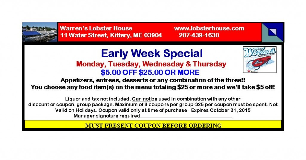 ad Oct 1 2015 early week 5 off 25