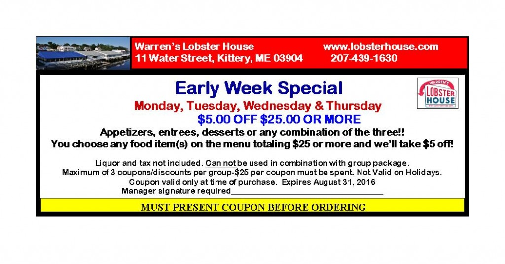 Warren Lobster House Kittery Me Coupons Lobster House | Lobster House