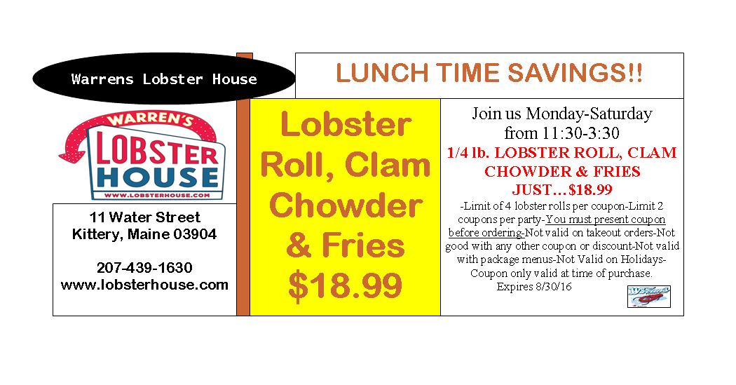 Coupons & Promotions | Warren's Lobster House
