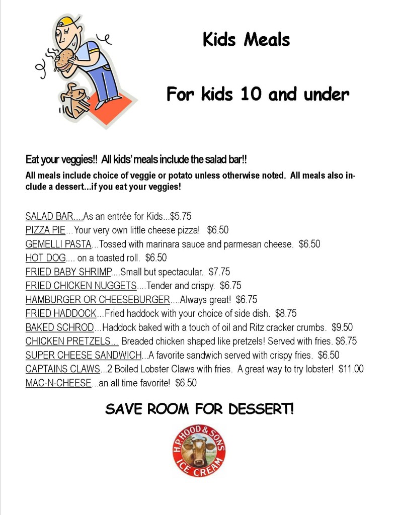 menu kids meals june 2015