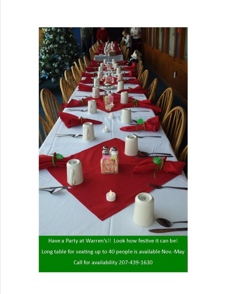sunroom long table dressed up xmas2014